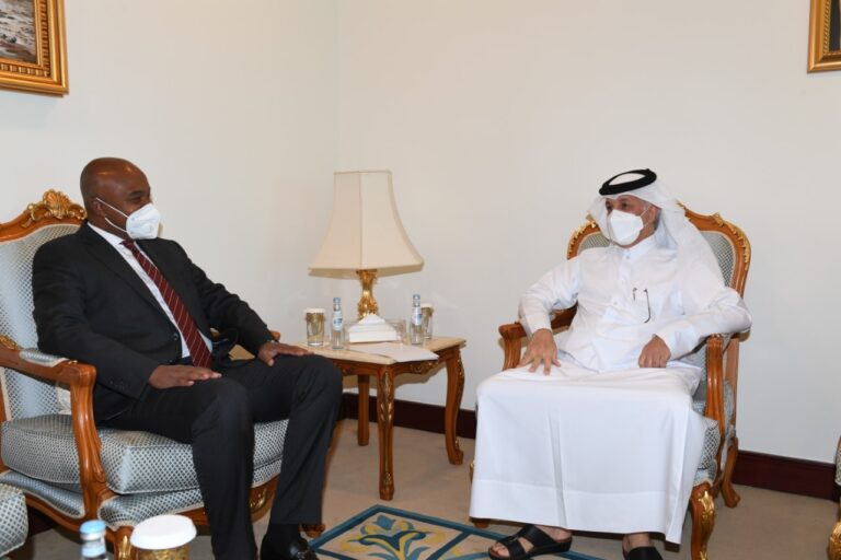 وزير الخارجية يجتمع مع وزير الدولة للشؤون الخارجية القطري